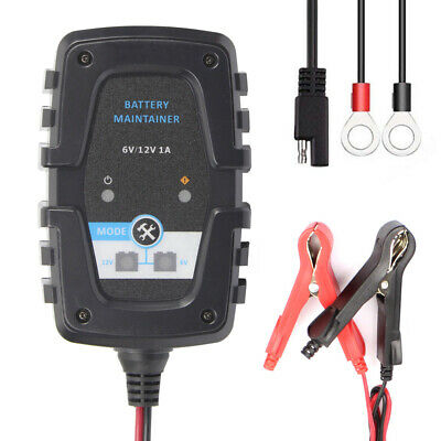 6V 12V 1A Full Automatic Car Battery Charger Intelligent Fast Power B4O5