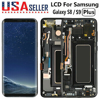 For Samsung Galaxy S8 S9 Plus Screen Replacement LCD Touch Digitizer With Frame