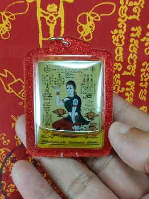 Queen Of Money Nang Kwak In Occult Oil Business Good Wealth Pendant Thai Amulet