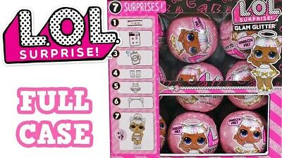Box of 18! LOL Surprise Glam Glitter Dolls Series 2- authentic MGA. Full Case