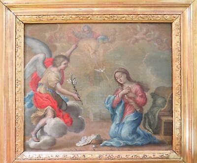 Old Master Oil Allegorical Angels Religious God Mary Baby 17th Century Italian