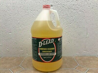 1 Gal D-Lead Surface Cleaner Concentrate Removes Lead Dust Missing Cap