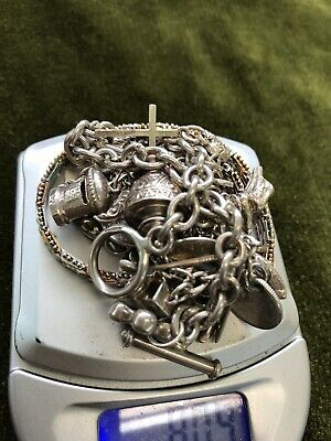 JOB LOT OF SOLID SILVER ANTIQUE AND VINTAGE ITEMS  Four Items In All.