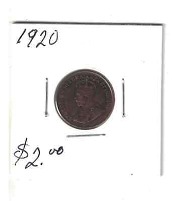 1920 Canada 1 cent Small Penny