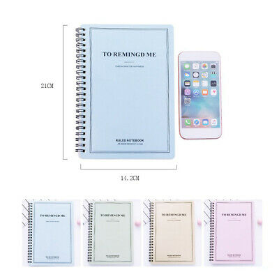 1pc Notebook Portable 60 Pages Notebook Coil Notepad Checklist Schedule for Home