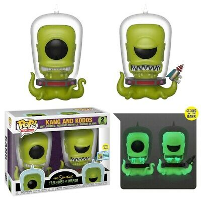 The Simpsons - Kang and Kodos GLOW Funko Pop! Vinyl **SDCC 2019 PRE-ORDER**