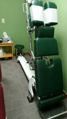 Zenith Hi-Lo Spring Lift Table, Original Green Upholstery, Good Condition
