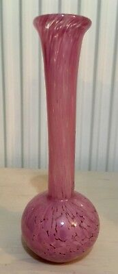 Beautiful Mdina Hand Blown Glass Vase. Signed On Base