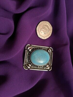 Arts And Crafts White Metal Ruskide Brooch