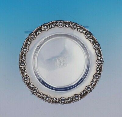 Chrysanthemum by Tiffany and Co Sterling Silver Bread and Butter Plate (#3442)