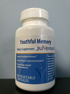 Juvenon Youthful Memory Dietary Supplement 60 Vegetable Capsules - New! Exp 3/21