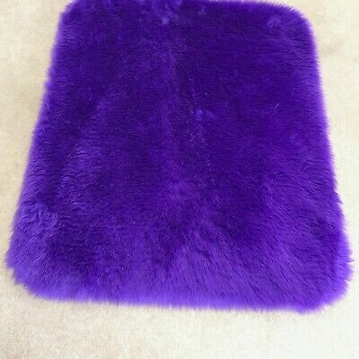 Purple super soft faux fur rug cat dog pet matt brand new 90x75cm