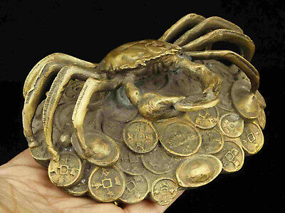 China Hand-Carved Bronze Crab Statue Desktop decoration