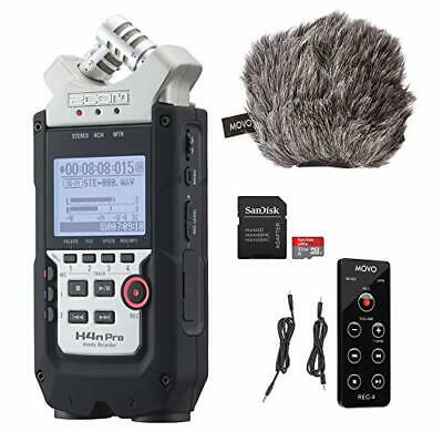 "Zoom H4n PRO 4-Channel Handy Recorder with Movo ESSENTIALS Bundle - Includes""Dea"