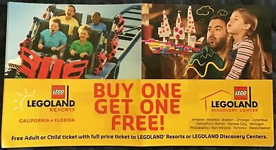 Legoland Buy One Get One Adult or Child Ticket - California or Florida