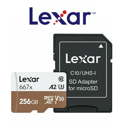 Lexar Micro SD Card 256GB Professional 667x Class10 Phone Tablet Memory 100Mb/s
