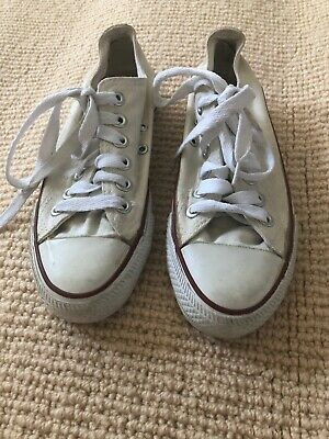 Kids Unisex Girls CONVERSE All Star Shoes Runners Sneakers Size 3 White