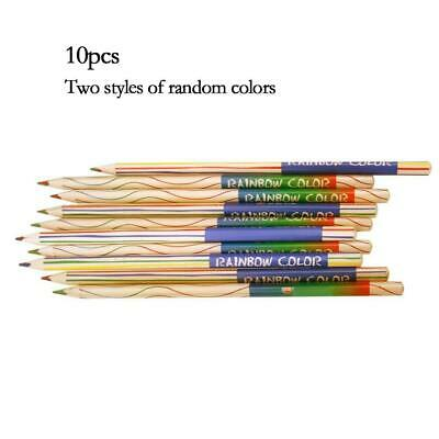 10pcs/set Rainbow Colors Pencil 4 in 1 Colored Drawing Painting Art Pencils