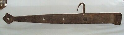 Antique Hand Forged Wrought Iron Strap Hinge from Old New England Barn 14""