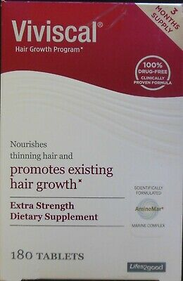 Viviscal Women's Hair Growth Program 3 Months Supply 180 Tablets-2 Boxes