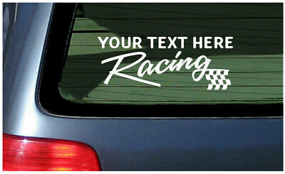 Custom Racing sticker make your own vinyl decal personalized customized graphic