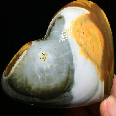 Top NATURAL POLISHED POLYCHROME JASPER HEART From Madagascar 257g 92mm A7704
