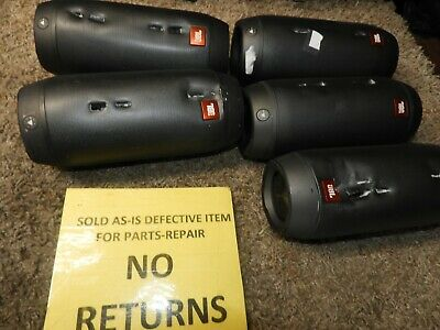 lot of 5 JBL Pulse 2 Portable Wireless Bluetooth Speakers for parts 18656