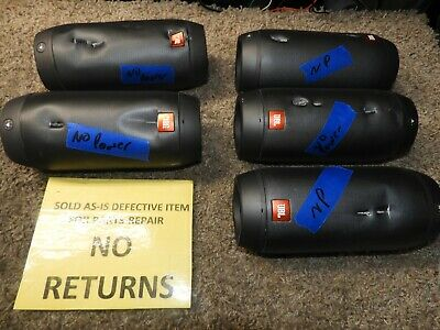 lot of 5 JBL Pulse 2 Portable Wireless Bluetooth Speakers for parts 18655