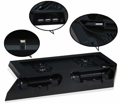 PlayStation 4 PS4 Cooling Station Vertical Stand w/ 2 Controller Charging Dock