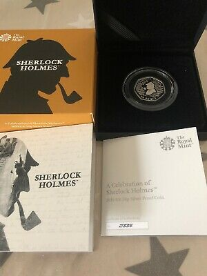 Sherlock Holmes Silver Proof 2019 50p Coin COA 2335 Of 6000