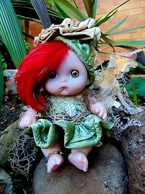 Woodland Fairy Baby OOAK Akraia Beautiful Faerie Fae Fairyland