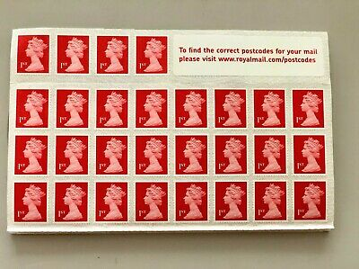 Royal Mail 1st Class Stamps booklet,brand new unused 100 X 1