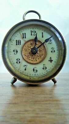 American Vintage Brass Ansonia Clock Co. USA drum clock pat. 1878