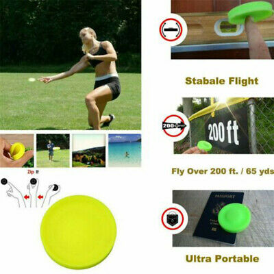 Zip Flying Disc Chip Mini Pocket Flexible UFO Saucer Spin in Catching Game Gift