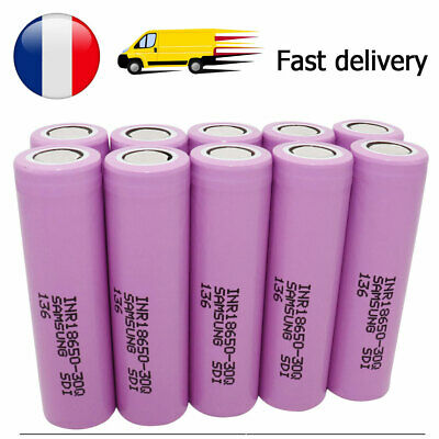 2/4/6/8/10 18650 3000mAh 3.7V Li-ion Batterie Rechargeable Flat Top High Drain