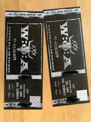 "2 Tickets Wacken Open Air 2019 3-Days ""ALL IN"" - 01.-03.08.2019"