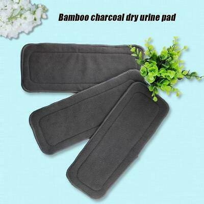 5PCS Washable Infrant Reusable Bamboo Charcoal Fiber Cloth Nappy Insert Diaper
