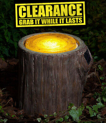 Solar Garden Outdoor Led Light Lamp Waterproof Powered lawn Woodland Tree Stump