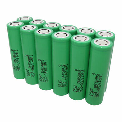 2/4/6/8/10pcs 18650 25R Batterie 2500mAh 3.7V Li-ion Rechargeable High Drain FR