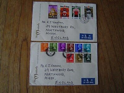 Hong Kong 2 Very Nice Covers 1974  Stamps Cat At 50.00+