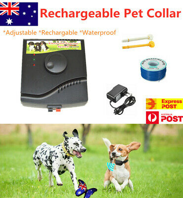 Rechargeable Dog Fence Hidden Electronic Electric Fence System - Waterproof NEW