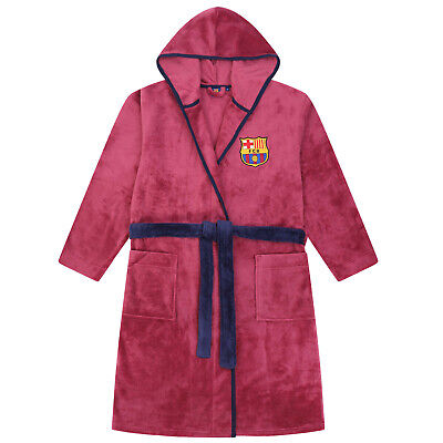 FC Barcelona - Herren Fleece-Bademantel mit Kapuze - Offizielles Merchandise