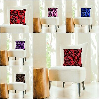 """LUXURY HOME DECORATION JACQUARD FLORAL DAMASK CUSHION COVERS OR FILLED 18""""x18"""""""