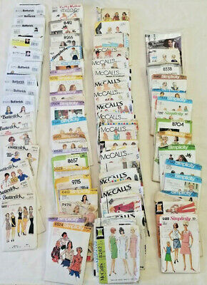 VINTAGE Sewing Patterns (McCalls/Simplicity/Butterick) Lot of 70 Cut Wear