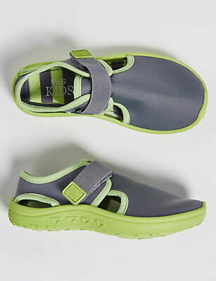 Marks & Spencer ~ M & S Kids ~ Grey / Green Aqua / Water / Holiday Shoes size 9