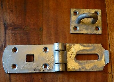 """Kirkpatrick 8/""""  Black Iron  Antique style Shed Barn Stable Door//Gate Bolt 1155"""