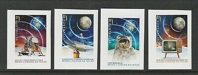 AUSTRALIA 2019 - MOON LANDING 50 Years - set of 4 P&S Stamps from  BOOKLETS MNH