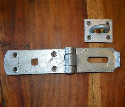 4712 Barn Doors // Gates Shed 250mm Galvanised Hasp /& Staple for Large Garage