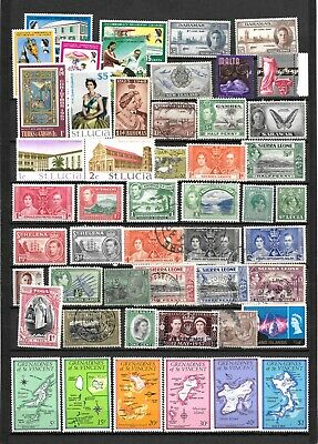 British Commonwealth Collection Of 50 Mint And Used Stamps Inc Complete Sets