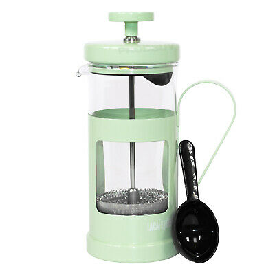 Pale Green Cafetiere 3 Cup French Press Coffee Maker Jug Pot Gift Kitchen Gadget